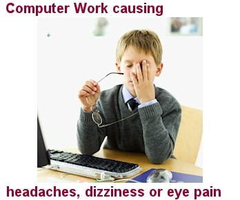 Vision Specialists of Michigan Computer Work causing headaches, dizziness or eye pain